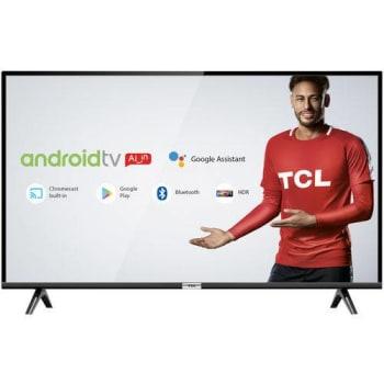 """Smart TV LED 40"""" Android TCL 40s6500 Full HD com Conversor Digital Wi-Fi Bluetooth 1 USB 2 HDMI, Controle Remoto com Comando de Voz Google Assistant"""
