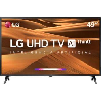 """(Lançamento) Smart TV LED 49"""" Ultra HD 4K LG 49UM7300 3 HDMI 2 USB Wi-Fi ThinQ AI"""