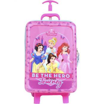 Mochila com Rodinhas Dermiwil Princesas Disney 52118 Rosa