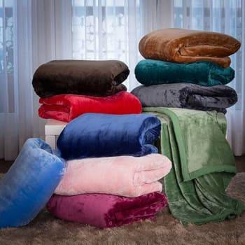 Cobertor King Flannel Colors com Borda em Percal - Casa & Conforto