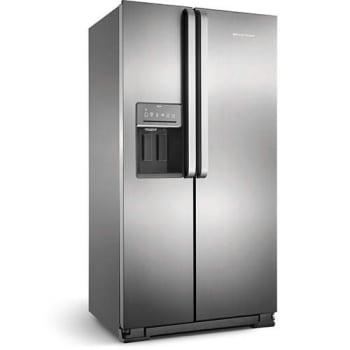 Geladeira / Refrigerador Brastemp Side by Side Ative BRS62 Inox 560 Litros