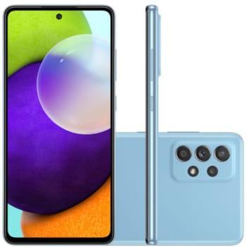 """Smartphone Samsung Galaxy A52 Tela Infinita 6,5"""" 128GB 6GB RAM Câmera Quádrupla 64MP Azul"""