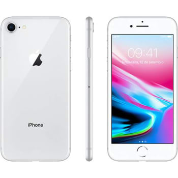 "iPhone 8 Prata 64GB Tela 4.7"" IOS 11 4G Wi-Fi Câmera 12MP - Apple"