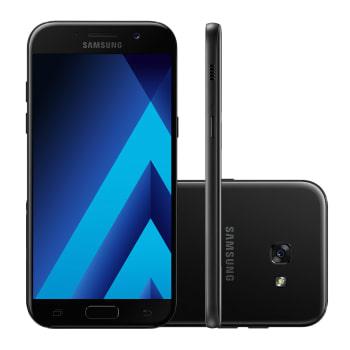 "Smartphone Samsung Galaxy A5 SM-A520FZKPZVV 32GB Preto 4G 5.2"" 16MP Android 6.0"