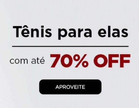 Tênis Femininos com Até 70% de Desconto!