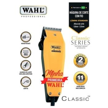 Máquina de Cortar Cabelo Wahl Classic Profissional com 6 Pentes de Corte