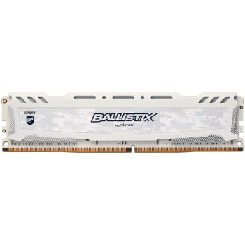 Memória Crucial Ballistix Sport LT, 8GB, 2400MHz, DDR4, CL16, Branco - BLS8G4D240FSCK
