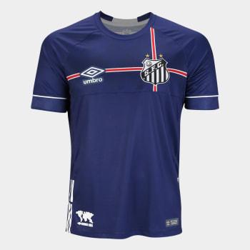 Camisa Santos 2018 s/n° The Kingdom (P) - Torcedor Umbro Masculina - Marinho e Branco