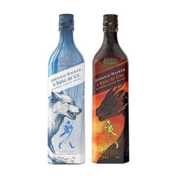Kit Whisky Game Of Thrones - Song Of Fire e Song Of Ice - Johnnie Walker