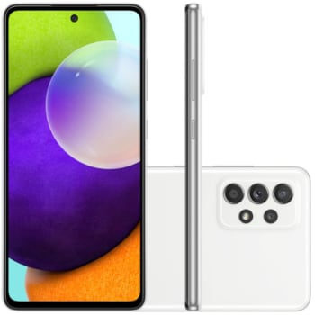 "Smartphone Samsung Galaxy A52 Tela Infinita 6,5"" 128GB 6GB RAM Câmera Quádrupla 64MP Branco"