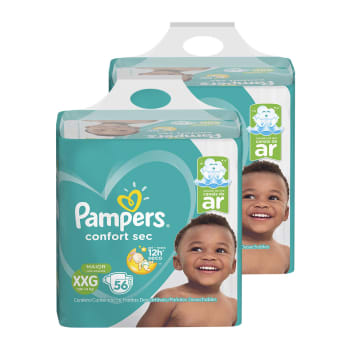 Kit de Fraldas Pampers XXG Confort Sec Super - 112 Unidades