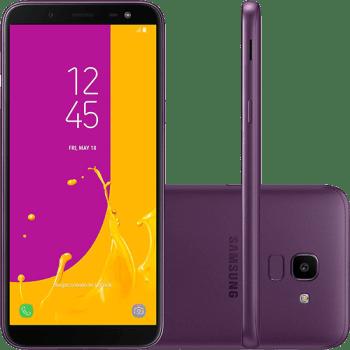 "Smartphone Samsung Galaxy J6 64GB Dual Chip Android 8.0 Tela 5.6"""
