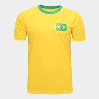 Camisa Brasil Torcedor Masculina - Amarelo