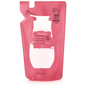 Refil Desodorante Hidratante Corporal Framboesa e Pimenta Rosa Pele Extrasseca Tododia - 400ml
