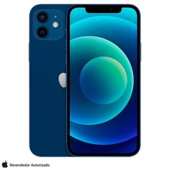 "iPhone 12 64GB iOS 5G Tela 6.1"" - Apple - Azul"