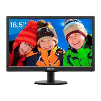 "Monitor Philips 18,5"" LED HD VGA Widescreen 193V5LSB2"