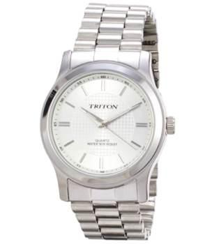 Relógio analógico prata Triton MTX131