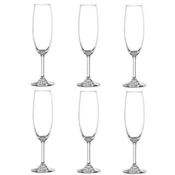 Jogo 6 Taças Champagne 220ml Cristal Bohemia
