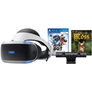 PlayStation VR Bundle Sony Game Astro Bot Rescue Mission + Moss