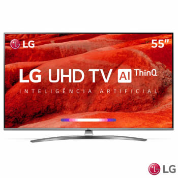 "Smart TV LED 55"" 4K LG 55UM7650 4 HDMI 2 USB Wi-Fi Bluetooth"