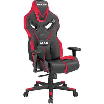 Cadeira Gamer Mymax Mx8 Giratória Preta/Vermelho
