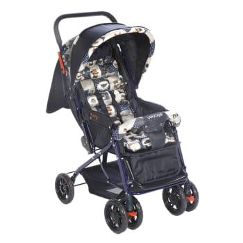 Carrinho de Bebê Passeio Voyage 4 Rodas 3 Posições Suporta até 15Kg Funny Azul