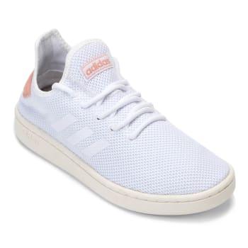 Tênis Adidas Court Adapt Feminino - Branco e Salmão