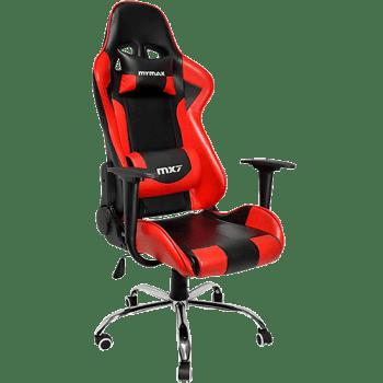 Cadeira Gamer Mymax Mx7 Giratória Preta/Vermelho