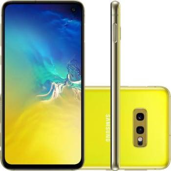"Smartphone Samsung Galaxy S10e 128GB Dual Chip Android 9.0 Tela 5,8"" Octa-Core 4G Câmera 12MP + 16MP - Amarelo"
