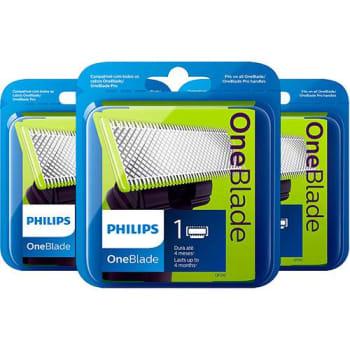 (APP) - Kit 3 Lâminas Oneblade Qp21050 - Philips