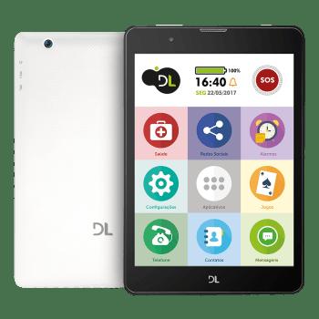 Tablet DL Tabfácil 3G Bluetooth Branco TX385 - Memória interna 8GB Memória ram 1GB