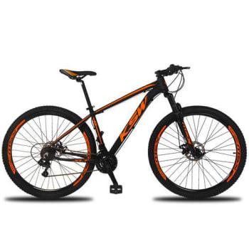 [6 cores] Bicicleta Aro 29 KSW Xlt 21V Câmbios Shimano Freio a Disco Mecânico Preto e Laranja 15