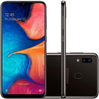 Smartphone Samsung Galaxy A20, 32GB, 13MP, Tela 6.4´, Preto - SM-A205G/32DL