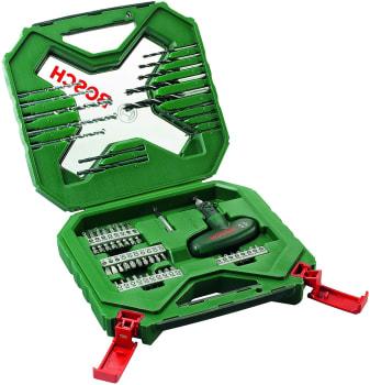 Kit de Pontas e Brocas Bosch X-Line para parafusar e perfurar com 54 unidades