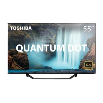 "Smart TV Qled 55"" Toshiba Vidaa Smart Uhd 4k Quantum Dot - TB001"