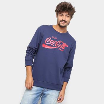 Moletom Coca-Cola Aroma Masculino - Azul