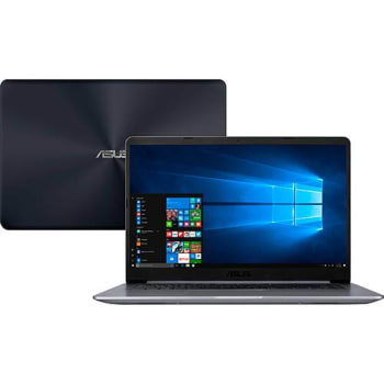 "Notebook ASUS Vivobook X510UR-BQ291T i5-8250U 8GB RAM 1TB Tela Nano Edge Full HD 15.6"" GeForce 930MX 2GB W10"
