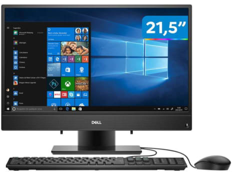 "Computador All in One Dell 3280-AS10P Intel Core - i3 4GB 128Gb SSD 21,5"" Full HD Windows 10 - Magazine Ofertaesperta"