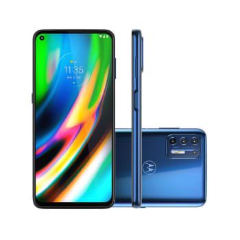 """Smartphone Motorola Moto G9 Plus 128GB Azul Índigo 4G Tela 6.8"""" Câmera Quadrupla 64MP Selfie 16MP Android 10.0"""