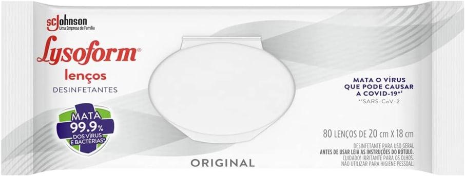 Desinfetantes Lysoform Lenços Umedecidos 80 Unidades, Lysoform