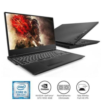 "Notebook Lenovo Gamer Legion Y530 i5-8300H 8GB 1TB GTX 1050 Windows 10 15.6"" FHD 81GT0000BR"