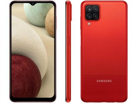 """Smartphone Samsung Galaxy A12 64GB Vermelho 4G - Octa-Core 4GB RAM 6,5"""" Câm. Quádrupla + Selfie 8MP - Magazine Ofertaesperta"""