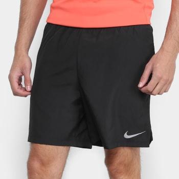 """Bermuda Nike DRI-FIT Challenger BF 7"""" Masculina - Preto"""