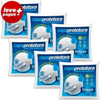 Kit Promocional 6 Capas Protetoras Impermeável com zíper 200 Fios 100% Algodão para Travesseiro 50x70 - Trisoft
