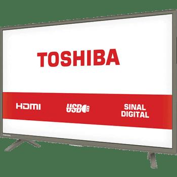 "TV LED 32"" Toshiba 32L1800 HD com Conversor Digital 3 HDMI 1 USB 60Hz - Grafite"