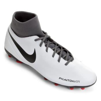 Chuteira Campo Nike Phantom Vision Club FG - Cinza