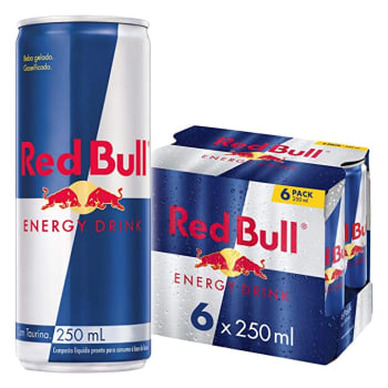 Energético Red Bull Energy Drink Pack com 6 Latas de 250ml