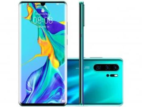 "Smartphone Huawei P30 Pro 256GB Aurora 4G 8GB RAM - Tela 6,47"" Câm. Quadrupla + Câm. Selfie 32MP - Magazine Ofertaesperta"