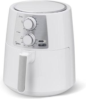 Fritadeira Air Fryer Sem Óleo, Midea, Branca 3,5L 220V