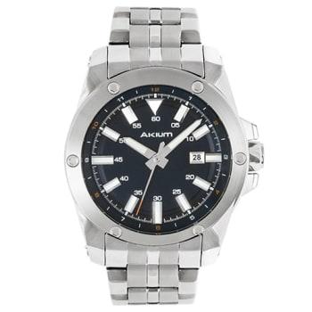 852038e481c Relógio Akium Masculino Aço - 03E47GB02-BLUE em Promoção no Oferta ...